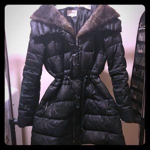Mid length warm winter coat